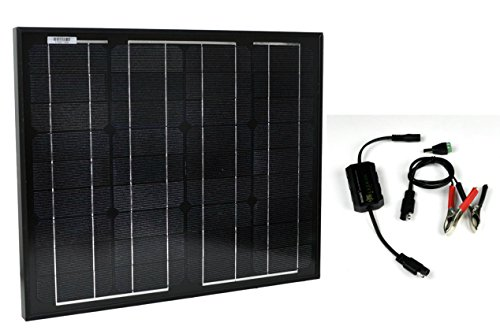 - Instapark SP Series Mono-crystalline Photovoltaic PV Solar Panel Charge Controller Included, 30 Watts