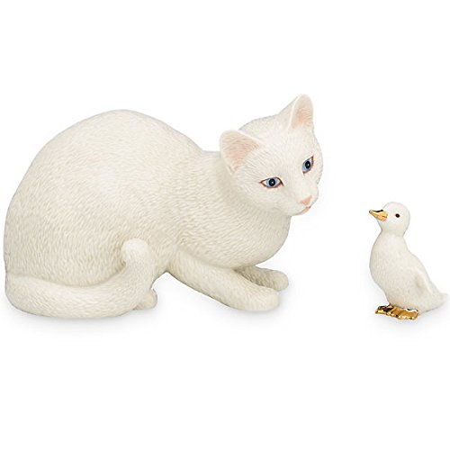 Lenox New Friends Cat and Duck Fine Porcelain Collectible Figurine Set