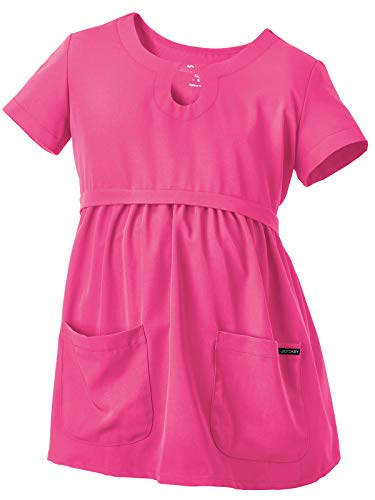 - Jockey 2461 Women's Empire Waist Maternity Scrub Top - Comfort Guaranteed Posh Pink S