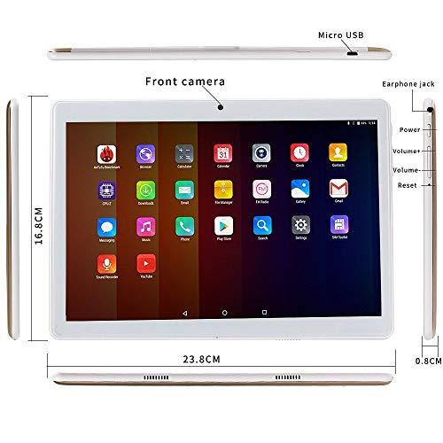 Tablet PC HD 10 pulgadas Oro (Android 7.0, 4GB de RAM, 64GB de Memoria Interna,3G double-sim, Bluetooth, GPS, WiFi, OTG): Amazon.es: Electrónica