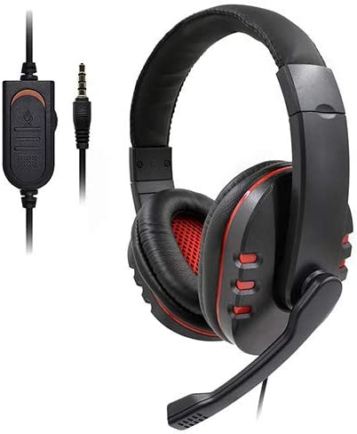 QKa 3.5mm Wired Gaming Headset Deep Bass Game Accessories Professional Computer Gamer Headphone with HD Microphone for Computer