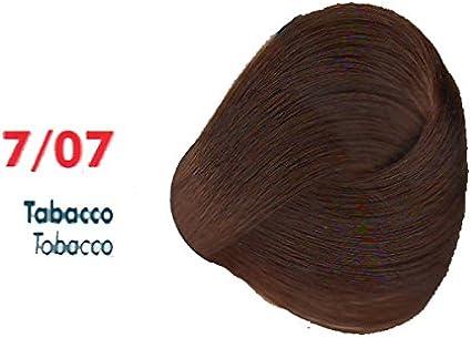 Tinte de Pelo Profesional Tabaco Tabaco sin Amoníaco 7/07 Permanente 100ml Made in Italy