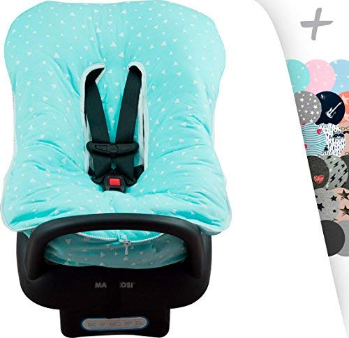 (JANABEBÉ Universal Padded Cover Liner for Baby Carriers and CAR SEAT (Maxi COSI MICO, CHICCO, BRITAX, ETC) (Mint Sparkles))