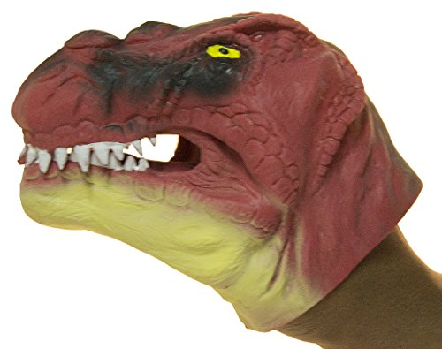 Soft Rubber Realistic 6 Inch Tyrannosaurus Rex Hand Puppet (Red)