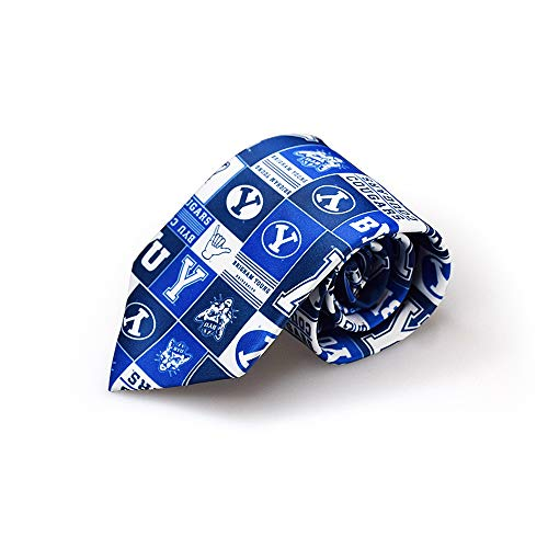 NCAA BYU Cougars Logo Pattern Mens Tie Fan Frenzy Gifts ()