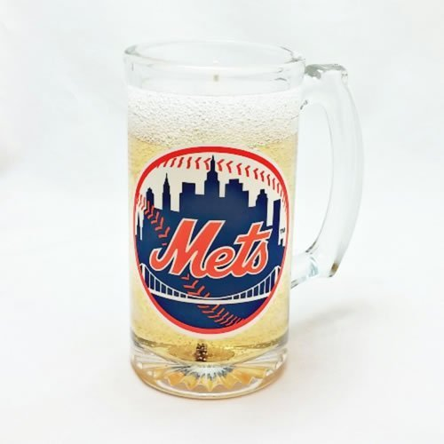 New York Mets Beer Candle - Mineral Oil Based Gel Candle MADE IN USA
