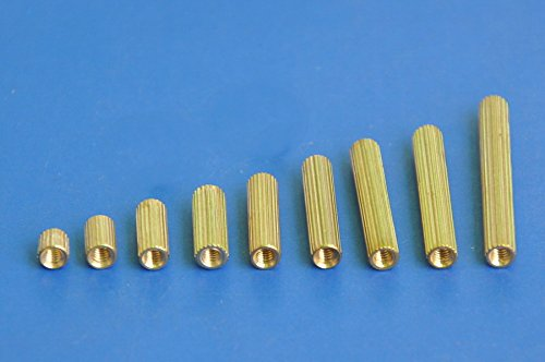 Electronics-Salon 100pcs 18mm Threaded Metric M2 Brass Female-Female Standoff, Spacer.