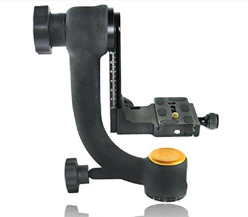 Koolehaoda Q45 Professional Gimbal Tripod Head with PU-70 QR Plate For Camera Telephoto Lens. (Color: Q45)