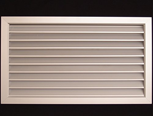 24''w X 24''h Aluminum Privacy Door HVAC Air Grille - ''V'' Shaped Louvers Enusre 100% View Block - Supply or Return by HVAC Premium