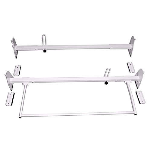 AA-Racks Model RX27 Fullsize Steel Two-Bar Van Ladder Roof Racks With Rear Cargo Roller - ()