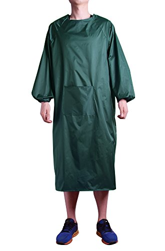 - Nanxson(TM) Unisex Multi Fuction Waterproof Long Sleeve Home Kitchen Overall Apron CF3015 (army green)