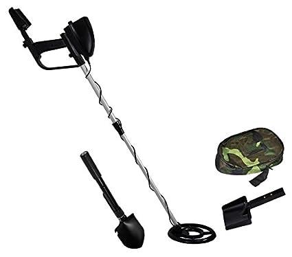 Terratek – Detector de metales ligero, con pantalla LCD, auriculares, palo ajustable y