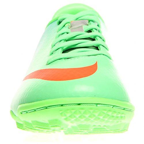 Nike Mercurial Vittoria Iv Tf Junior Stivali Da Calcio Astroturf Neo Lime / Argento / Blu / Totale Cremisi