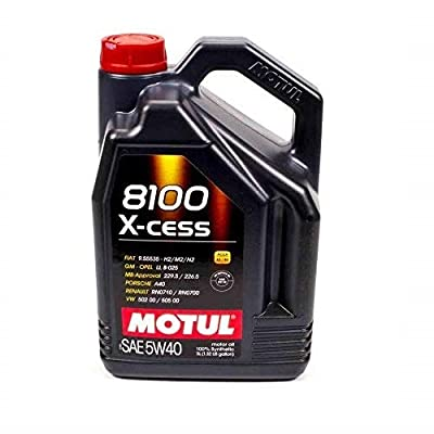 Motul 007250 8100 X-cess 5W-40 Synthetic Gasoline and Diesel Engine Oil