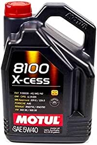 Motul MTL102870 007250 8100 X-cess 5W-40 Synthetic Gasoline and Diesel Engine Oil - 5 Liter Jug
