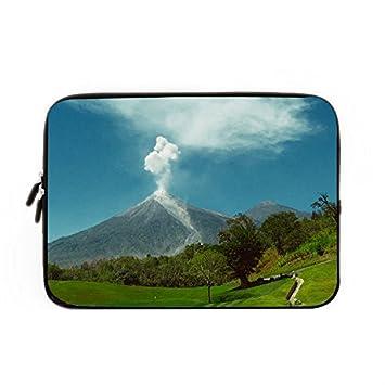 Hugpillows funda para portátiles/bolsa vida de Pix Guatemala volcán naturaleza funda de portátil casos con cremallera para macbook air 15 pulgadas: ...