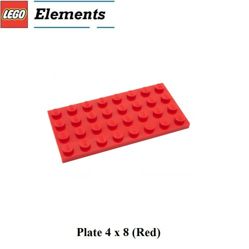 Lego-Parts-Plate-4-x-8-Red