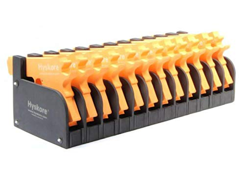 HYSKORE 12 Gun Modular Pistol Rack Closed Cell High Density Foam Black
