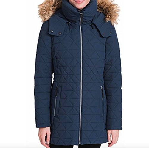 - Andrew Marc Ladies Quilted Jacket With Stretch (Navy, Small)