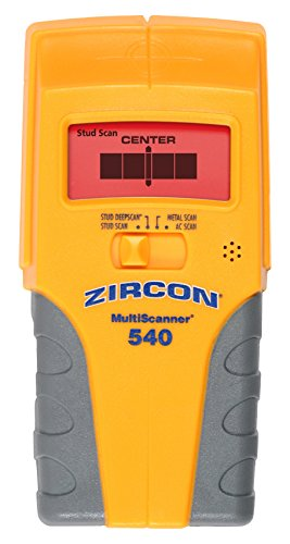 Zircon MS 540 Multiscanner Center-Finding Stud Finder with Metal Detection and Live AC Wire Tracing