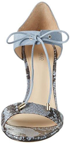 Hugo Vanea-p 10197235 01, Sandalias con Cuña para Mujer Azul (Light/pastel Blue 451)