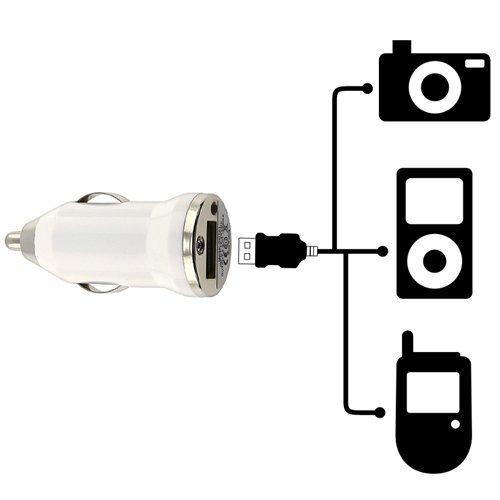 BIRUGEAR 2 porte (2.1A Output) USB caricabatteria da auto - argento metallizzato per Apple iPhone 4, 4S, 3G, 3GS iPhone® 5, iPad 1, 2, 3