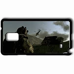 Personalized Samsung Note 4 Cell phone Case/Cover Skin Arma 3 Soldiers Tank Helicopter Mountain Black