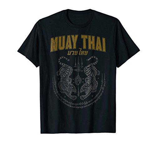 Twin Tiger Sak Yant Muay Thai T-Shirt (Thai T Shirt)
