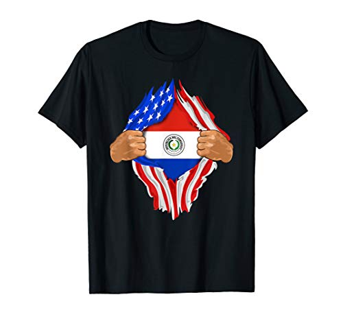 (Paraguayan Blood Inside Me T-Shirt | Paraguay Flag Gift)