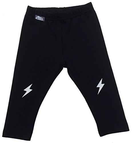 JAN & JUL Warm Thick Unisex Girl Boy Winter Leggings (4T, Black (Unisex Jersey Knit Pants)