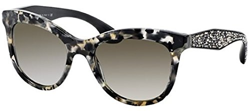 Miu Miu 10PS DHE4M1 White Havana Marble 10Ps Cats Eyes Sunglasses Lens - Miu Sunglasses Miu White