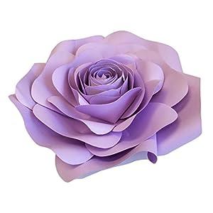 DecorInTheBox Large Paper Flower 30cm (12 inch) Wedding Photography Flower Backdrop, Birthday Wall Decor, Fully Assembled (Light Purple) 70