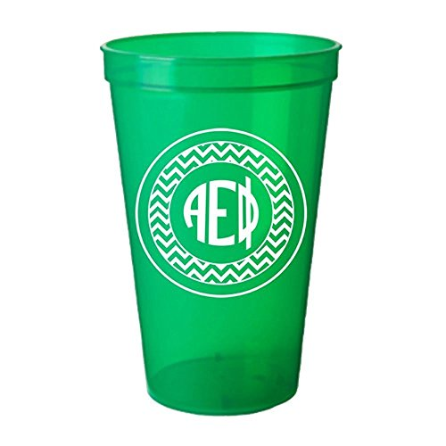 monogrammed plastic cups - 1