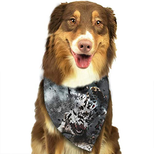 Pet Scarf Dog Bandana Bibs Triangle Head Scarfs Blasting Monster Accessories for Cats Baby -
