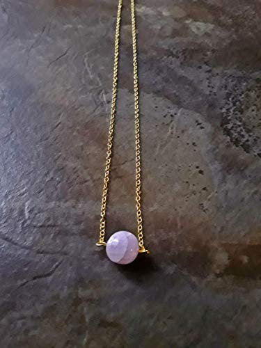 Pink Kunzite Minimalist Petite Dainty Pendant Necklace 18k Gold Plated Multiple Size Options