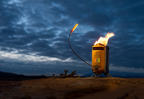 BioLite CampStove 2- Wood-Burning Small Lightweight Stove, USB FlexLight, Fire Starter, Generates 3W of Electricity for USB Charging Using Excess Heat, 5 x 5 x 8.3 Inches, Silver/Yellow (CSC1001) by BioLite (Image #8)
