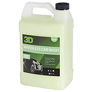 3D Waterless Car Wash - 1 Gallon | Spray On Easy Express Clean | Environmentally Friendly & Biodegradable Auto Care | Use on Chrome, Glass, Dashboards & Door Panels