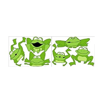 Amazon.com: Large Green Frog Wall Stickers, Decals, Wall Decor: Baby