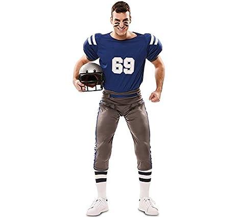 EUROCARNAVALES Disfraz de Jugador de Futbol Americano para hombre: Amazon.es: Juguetes y juegos