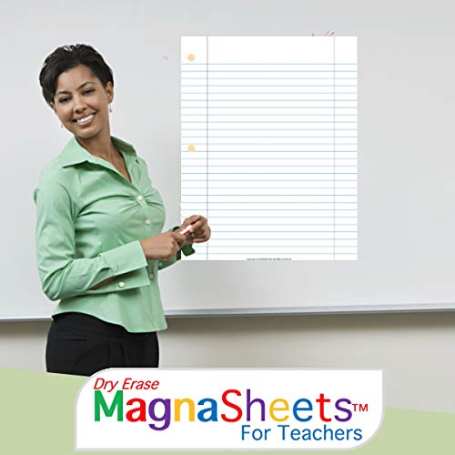 (MagnaSheets (TM) for Teachers | Dry Erase Magnetic Notebook Paper for Classrooms)
