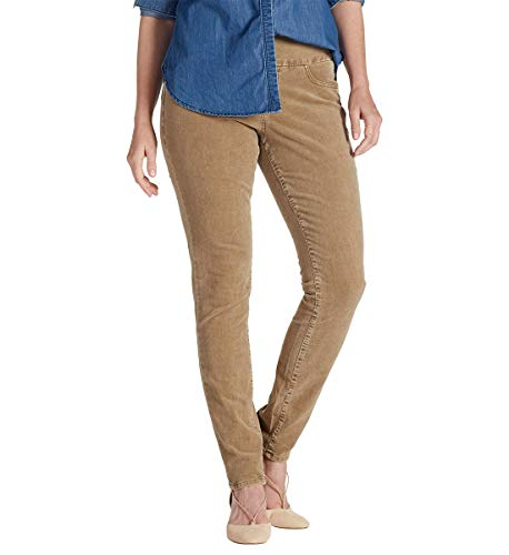 Jag Jeans Women's Nora Skinny Pull on Pant in Refined Corduroy, Toffee, 16