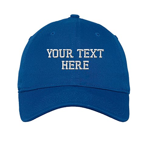 Personalize Your Custom Text On Cotton 6 Panel Unstructured Baseball Hat