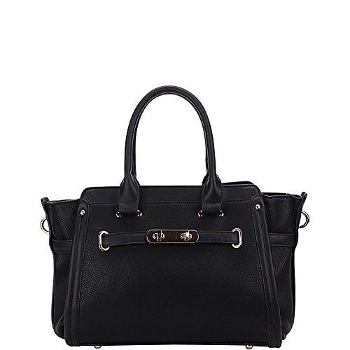 MKF Collection by Mia K. Farrow Swagger Carryall Handbag (Black)