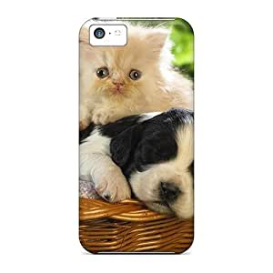 Lmf DIY phone caseTpu Case For iphone 5/5s With Cute Cat A PuppyLmf DIY phone case