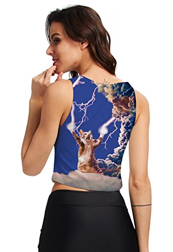 shirt Top 3d Breve Cat Maniche Canotta Lightling E Bimba T Bassiera Chicolife Stampato Canotte La Cami Graphic Donna xS8gTXqv