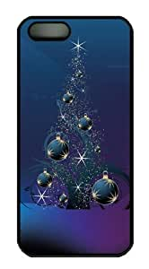 Christmas Tree Balls carry iphone 5S case PC Black for Apple iPhone 5/5S