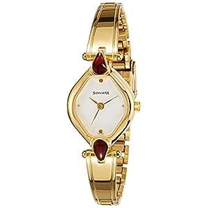 Sonata Analog White Dial Women's Watch -NM8063YM05 / NL8063YM05