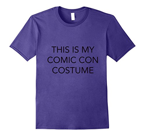 Mens This Is My Comic Con Costume T-Shirt for Comic Con 2017 Medium Purple