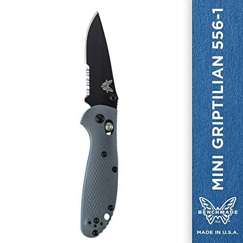 Benchmade - Mini Griptilian 556-1 Knife, Drop-Point Blade, Serrated Edge, Coated Finish, Gray Handle by Benchmade (Image #10)