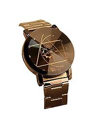 Susenstone Fashion Watch Stainless Steel Man Quartz Analog Wrist Watch (black)